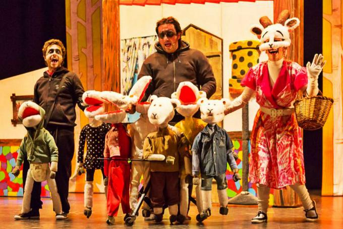'El llop i les set cabretes' en Eixample Teatre (Barcelona)